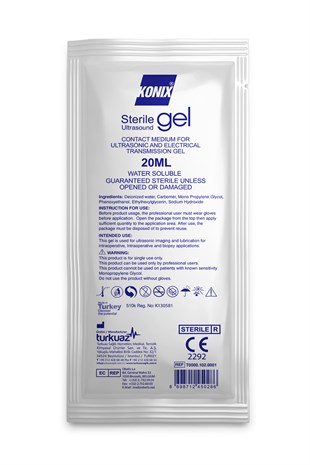 KONİX STERİL ULTRASON JELİ 20 ML